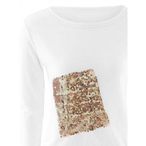 Sequined High Low T-Shirt -