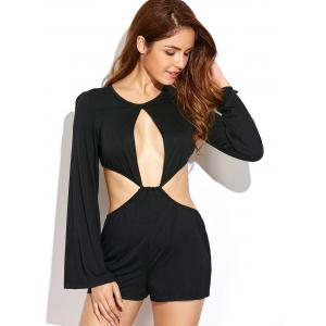 Bell Sleeve Cut Out Romper -