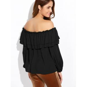 Off The Shoulder Ruffles Blouse -