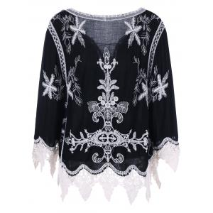 Bohemian Style Lace Embroidery Blouse -