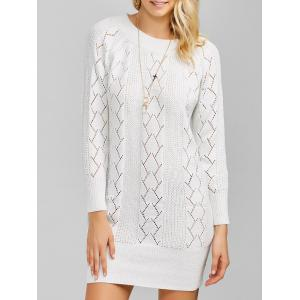 Raglan Sleeve Crew Neck Knitted Jumper Dress