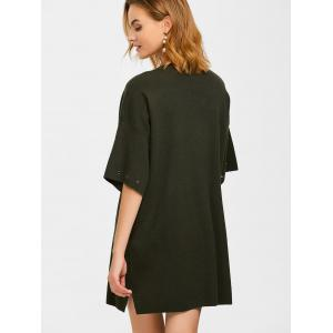 Crew Neck Straight Slouchy Jumper Dress -