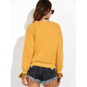Sweat-shirt à manches cloches - Jaune S
