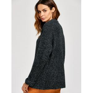 Knitted Crimping Cuff Sweater -