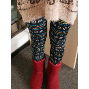 Thick Snowflake Ornate Patterned Leggings -