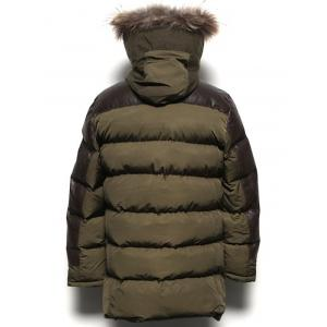 Paneled Pocket Faux Fur Hooded Padded Coat -