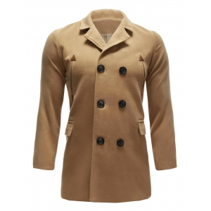 Back Vent Pocket Wool Blend Pea Coat