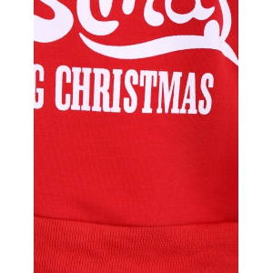 Active Merry Christmas Drawstring Hoodie - RED XL