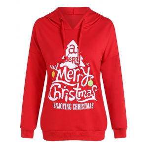 Active Merry Christmas Drawstring Hoodie