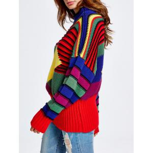 Christmas Colorful Striped Sweater -