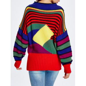 Christmas Colorful Striped Sweater - COLORFUL ONE SIZE
