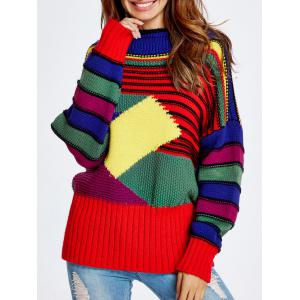 Christmas Colorful Striped Sweater