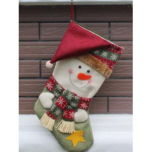 Snowman Hanging Candy Present Sock Christmas Decoration