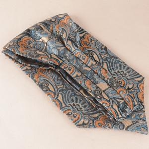 Jacquard Pocket Square and Cravat Tie Set - MIDNIGHT