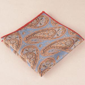 Cashew Floral Pattern Pocket Square Cravat Tie Set - BLUE