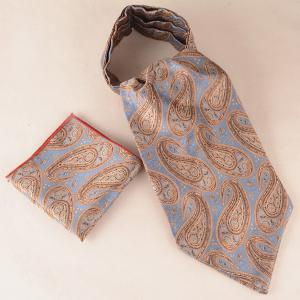 Cashew Floral Pattern Pocket Square Cravat Tie Set