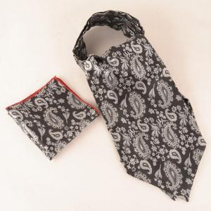 Retro Cashew Floral Print Pocket Square and Cravat