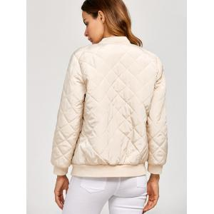 Rhombus Zipper Fly Bomber Jacket -