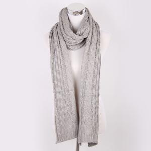 Winter Oversized Twisted Knitted Scarf - Gray