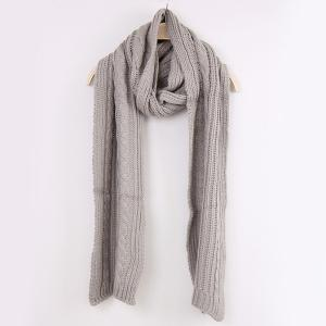 Winter Oversized Twisted Knitted Scarf -