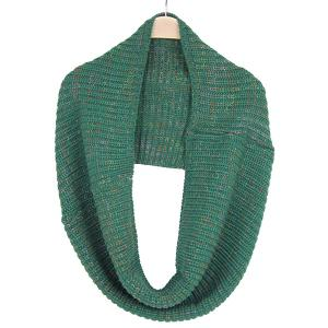 Winter Color Mixed Turtleneck Twisted Loop Knitted Infinity Scarf -
