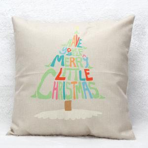 Christmas Tree Letters Pillow Case