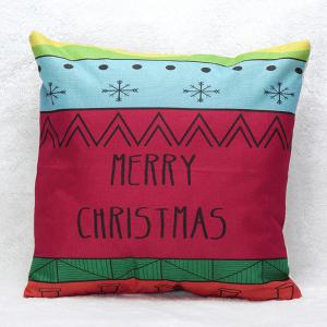 Merry Christmas Letters Printed Pillow Case