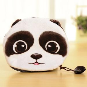 Colour Splicing Animal Pattern Zipper Coin Purse