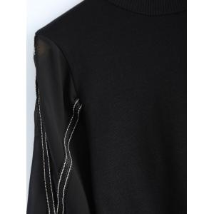 Trendsetter Cross Beaded Chain Sweatshirt -