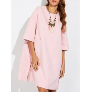Loose Side Slit Woolen Dress