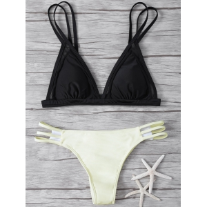 Cut Out Mesh Insert Bikini