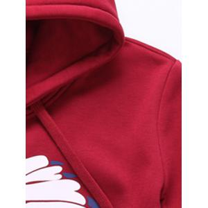 Native Printed Pullover Hoodie Twinset - RED 4XL