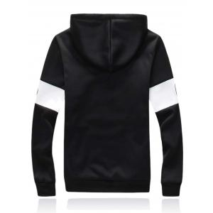 Zip Up Graphic Printed Hoodie Twinset - BLACK 5XL