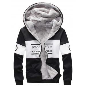 Zip Up Printed Graphic Hoodie Twinset -