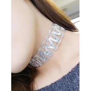 Sequins Choker Necklace - Silver