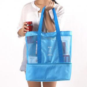 Casual Nylon Spliced Mesh Shoulder Bag -