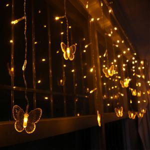 Christmas Room Decoration Butterfly Pendant LED String Light -