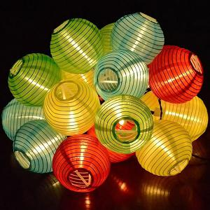Solar Power LED Lantern String Light Christmas Decoration Supplies