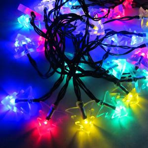 4.8M Solar Power Christmas Tree LED String Light Decoration - Colorful - One Size