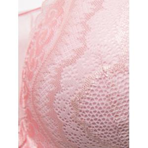 Plus Size U Neck Padded Full Cup Bra -