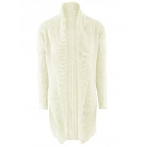 Shawl Collar Open Front Drop Shoulder Cardigan