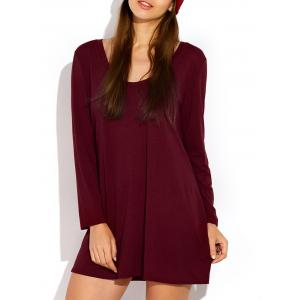 Scoop Neck Long Sleeve Dress