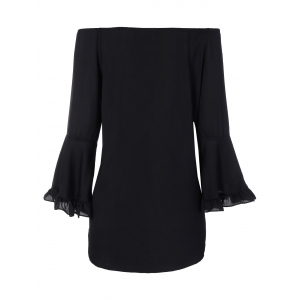 Bell Sleeve Flounce Off The Shoulder Blouse -