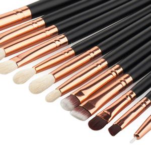 20 Pcs Fiber Face Makeup Brushes Set - BLACK