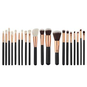 20 Pcs Fiber Face Makeup Brushes Set
