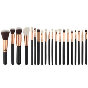 20 Pcs Fiber Face Makeup Brushes Set -
