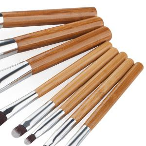 8 Pcs Fiber Facial Makeup Brushes Set -
