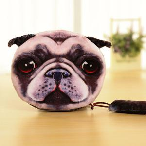 Zipper Dog Pattern Colour Block Coin Purse