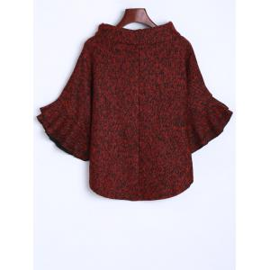 Knitted Turtleneck Poncho Sweater -
