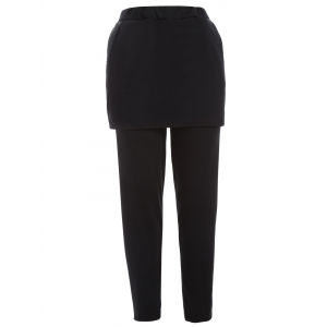 Plus Size Skinny Skirted Pants